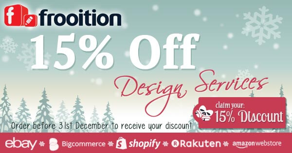 15% off Frooition Design Services until the 31st December 2014!
