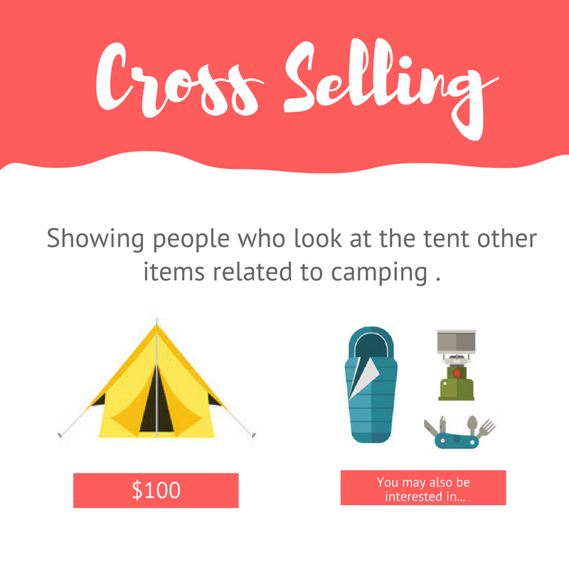 Cross selling a tent to camping gear