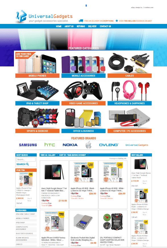 Frooition eBay Design For Universal Gadgets