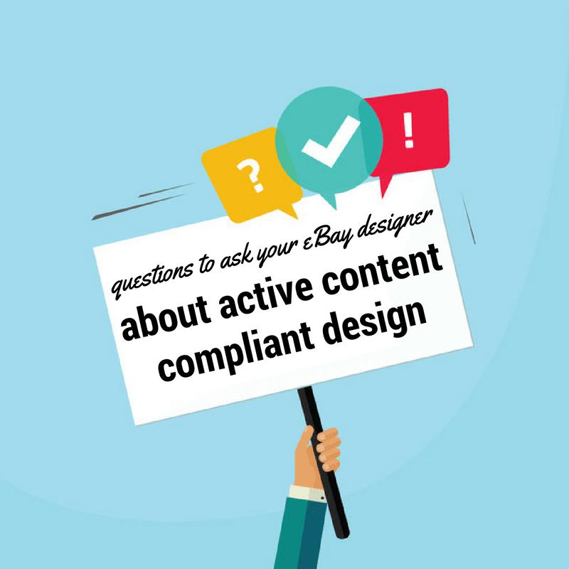 eBay active content compliant design