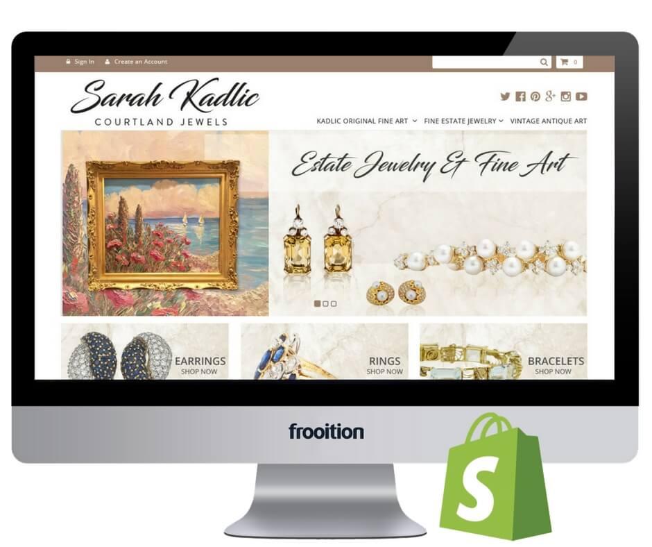 Sarah Kadlic Shopify design in screen