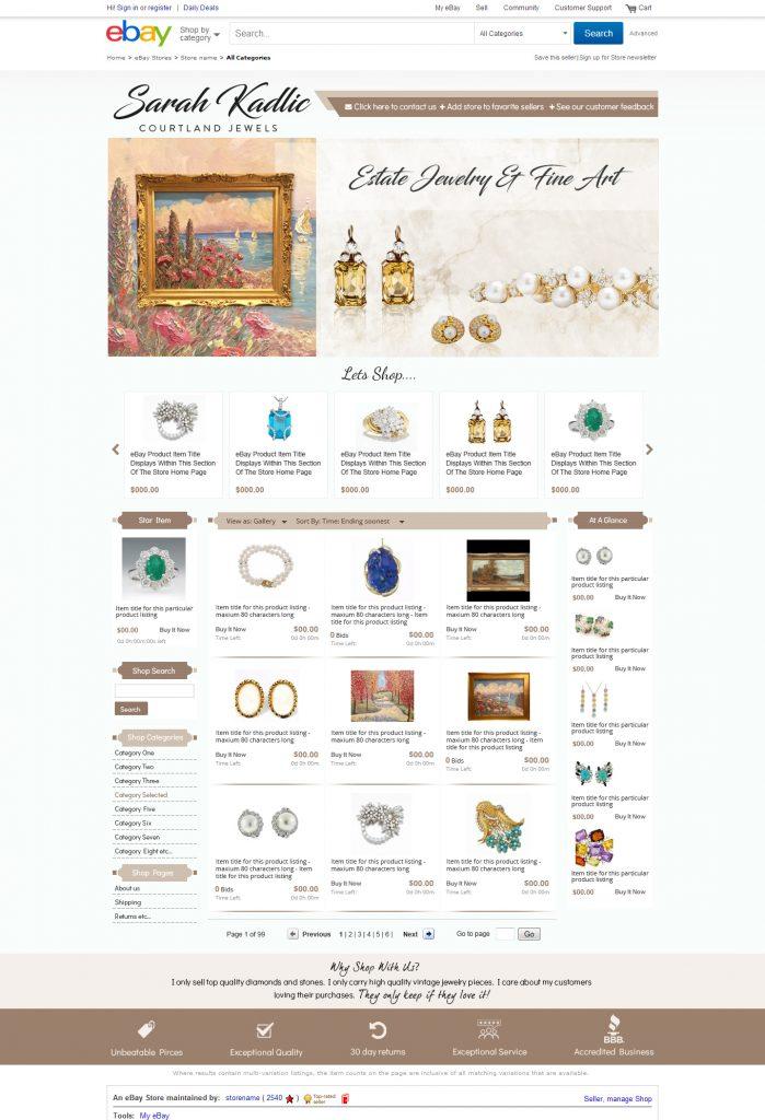 Sarah Kadlic eBay design