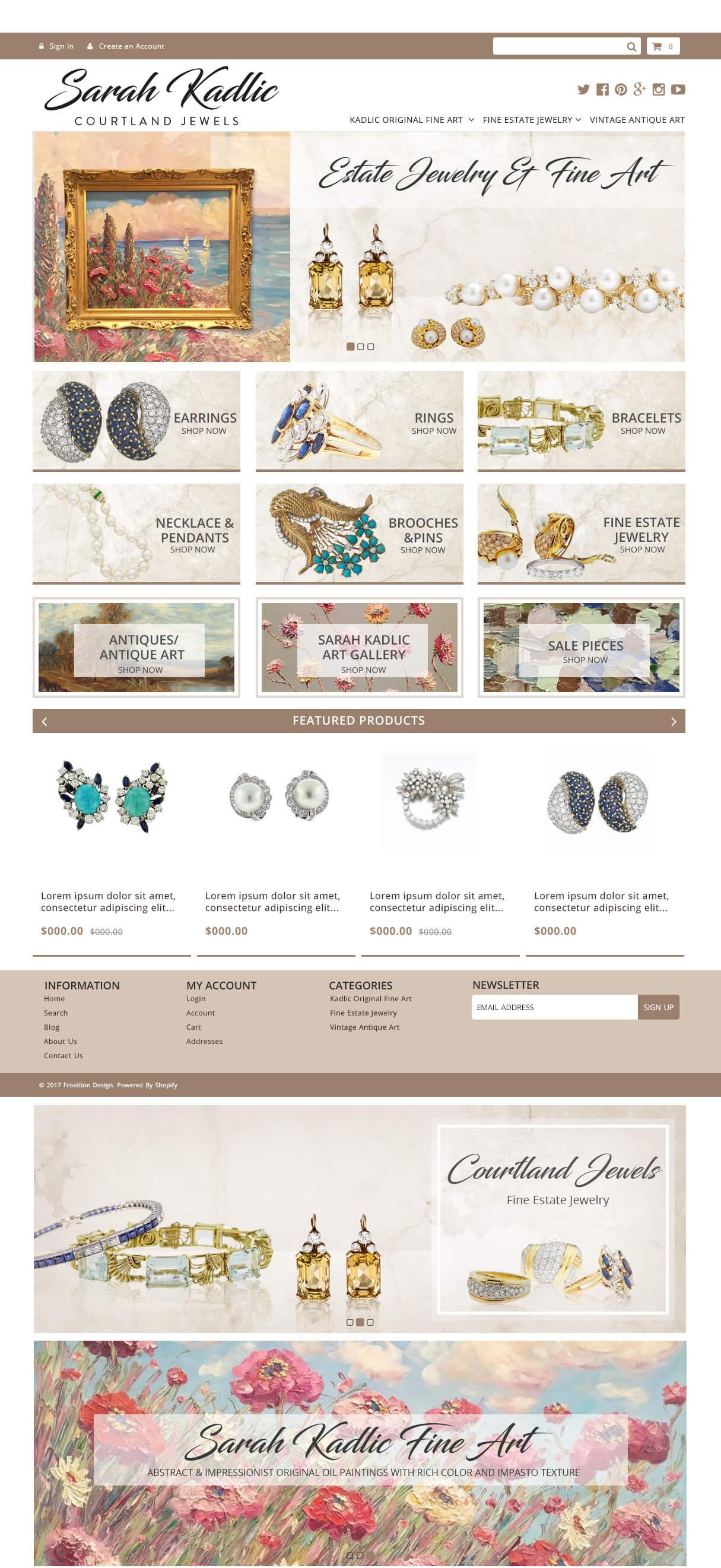 Sarah Kadlic Shopify design