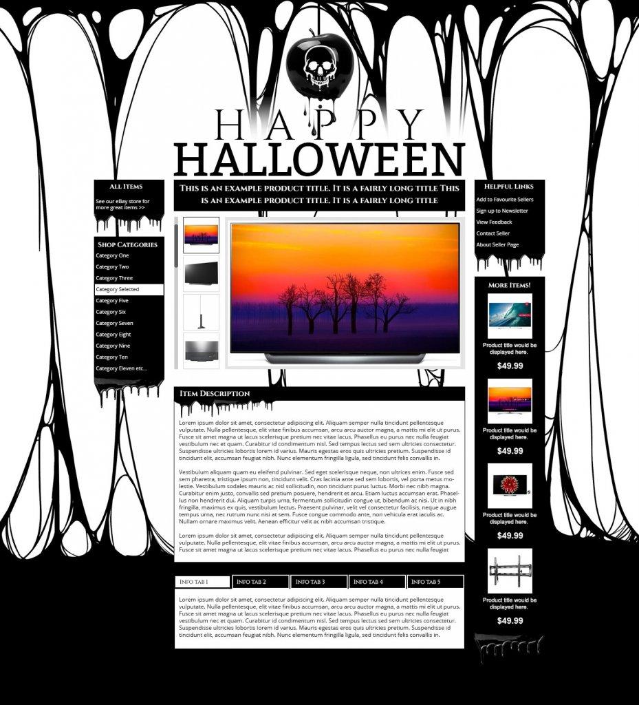 Halloween eBay design