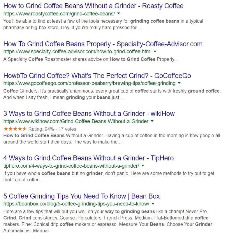 "page 1 results for the search ""how to grind coffee beans"""