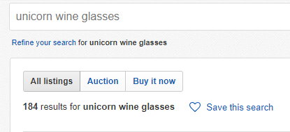 what to sell on eBay - wine glasses