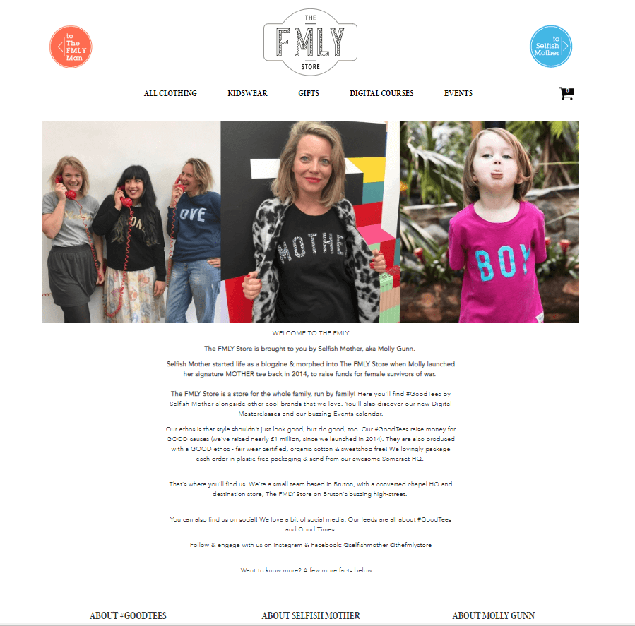 the fmly store brand story