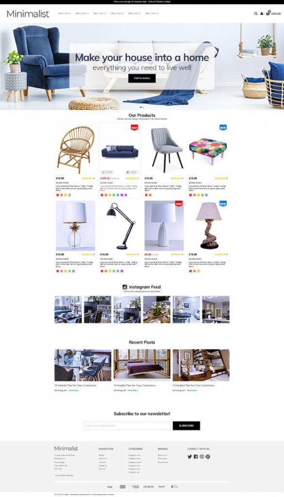 minimal ecommerce website design