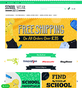 colour schemes for school wear websites
