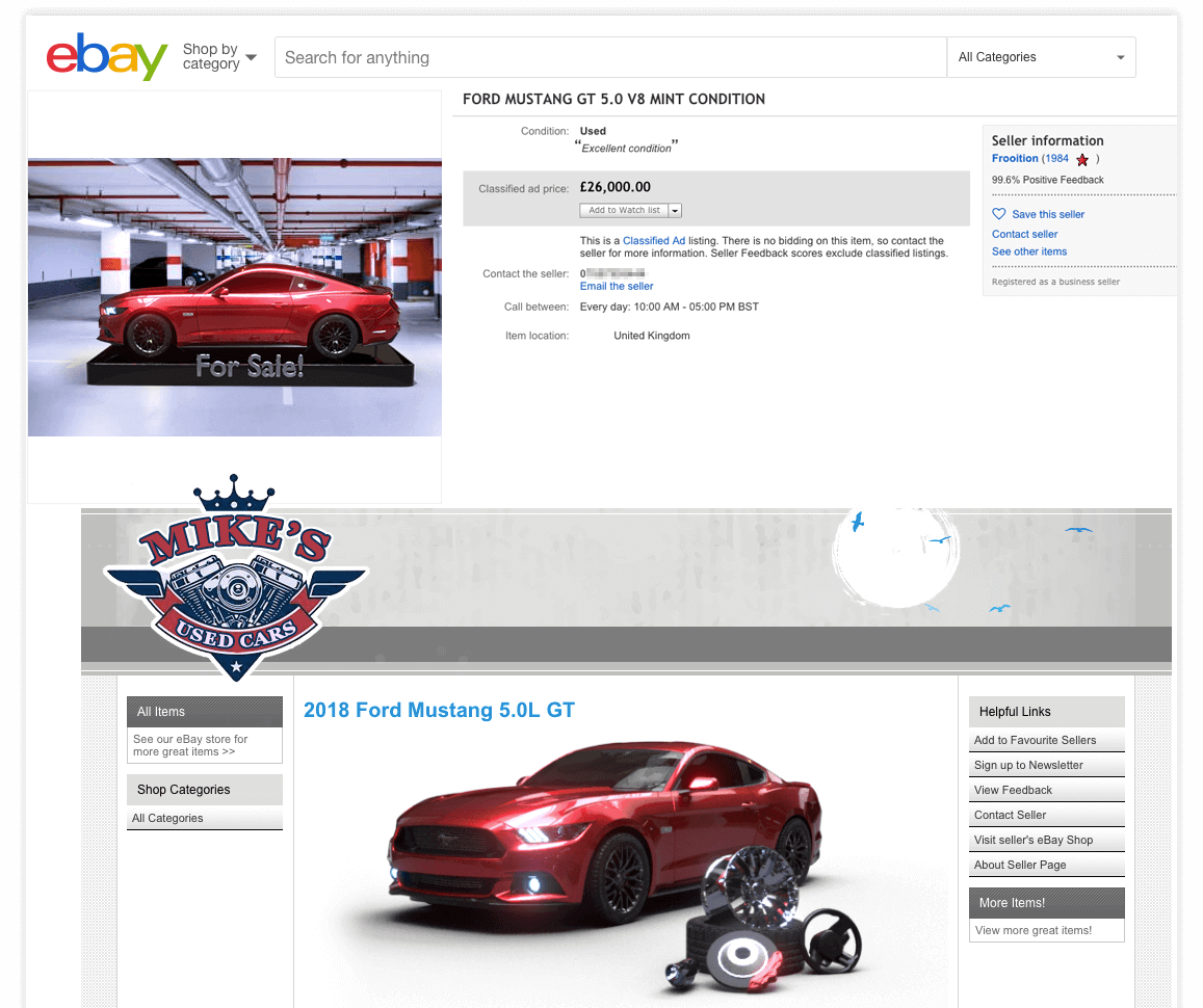 Frooition Design Classified Listing Ebay Uk Motors
