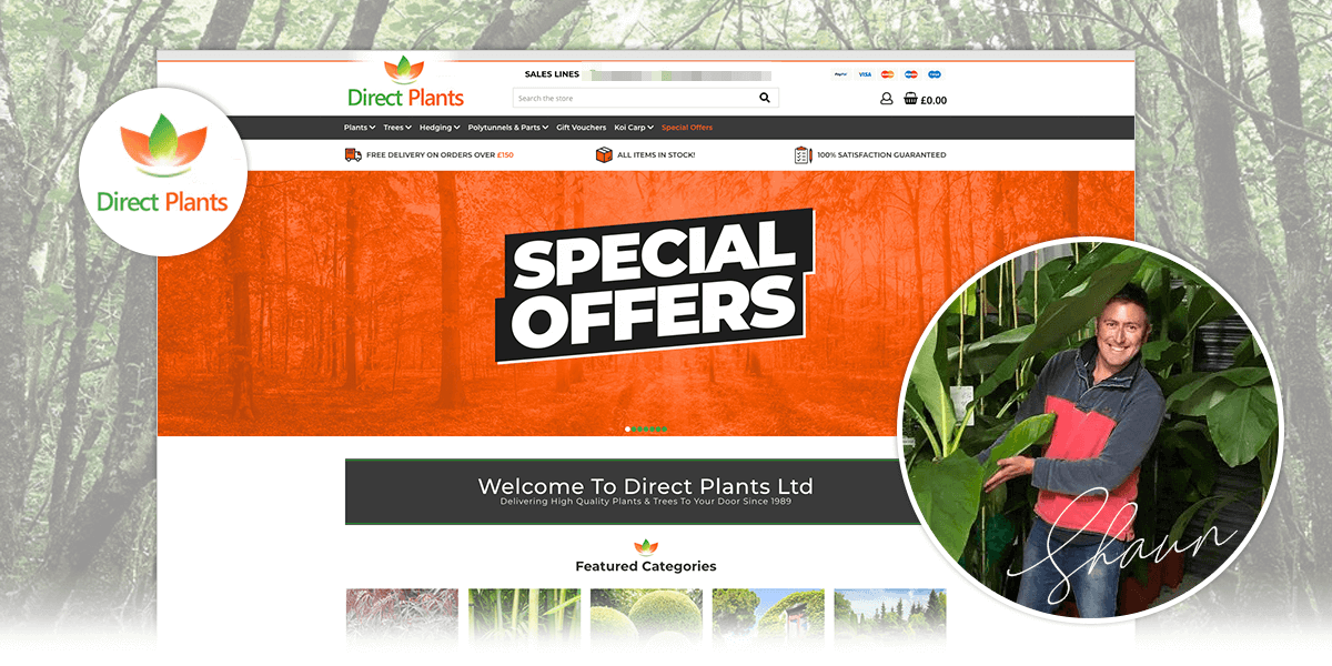 Direct Plants eCommerce case study